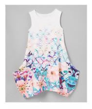 Sean John Girls Floral Bubble Dress, Xl, Pink/White