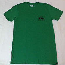 "NWT Quiksilver S/S Green Slim Fit T-Shirt  ""Quiksilver"" on Back    Medium    F28"