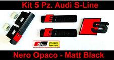 Kit 5 pz. Audi S-Line Nero Opaco adesivo logo badge Fregio A1 A3 A4 A5 Q3 Q5 A6