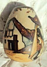 joli petit vase ovoïde en gré de ciboure signé  H MOREAU