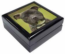 Staffordshire Bull Terrier Keepsake/Jewellery Box Christmas Gift, AD-SBT12JB