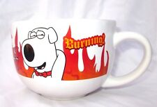 FAMILY GUY Mug Flames Hearts Coffee BRIAN Soup Cup BURNING! Fox Network