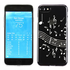 Slim-Fit Flexible TPU Phone Case for Apple iPhone 7 - White Music Notes