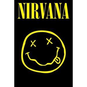 "Nirvana Smiley Face Alternative Grunge Rock Music Large Poster Print (24"" x 36"")"