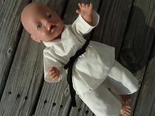 KARATE ANZUG 2-tg für Puppen Gr. 40-43 Baby Born Gi Judo Aikido Jako Krümel NEU