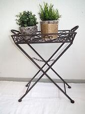 Beistelltisch Blumentisch Klapptisch Tabletttisch  -  Metall Eisen - rostfarben