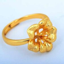 Vintage 9k Gold Filled cute Flower Women engagement Ring Size:8#