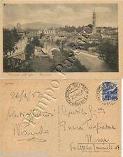 Cartolina di Palazzolo sull'Oglio, panorama - Brescia, 1950
