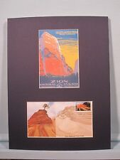 Honoring Zion National Park and First Day Cover of its own stamp
