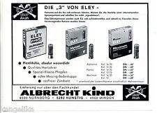 Akah--Eley--Albrecht Kind--Patronen-Die 3 von Eley--Werbung von 1969-