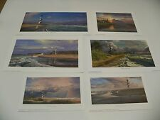 Phillip Philbeck 6 mini prints LIGHTHOUSES retail $60.00