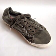 Next Men`s Trainers Shoes Wash Olive Khaki Green Size 6UK