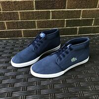 Lacoste Ampthill Mens Blue Chukka Ankle Boots Trainers Men's 9 USA 42 EUR 8 UK
