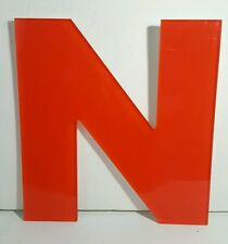 """12"""" ACRYLIC ADVERTISING SIGN LETTER N RED INDOOR OUTDOOR"""
