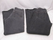 2 Pair Faded Glory Black Jeans Mens 30x30 Relaxed Fit