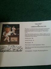 Pee Wee Reese Dodgers signed 18x24 Christopher Paluso Litho Lithograph