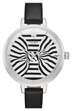 Kate Spade Women's 33mm Metro Bow Leather Watch - Black/Silver