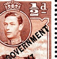 1948 Malta Sg 234 ½d Self Government Plate 6 'Repaired T' Unmounted Mint