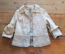DOMA leather jacket Cream Beige SMALL cropped sleeve