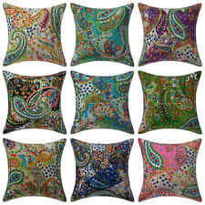 """Indian Handmade Kantha Paisley Cushion Cover Decorative Pillow Case Cover 16"""""""