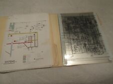 VINTAGE BOEING 727 SCHEMATICS AND OVERHEAD PROJECTOR OVERLAYS VERY RARE