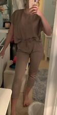 Zara Basic Brown Co-ord Loungewear Set Size Small