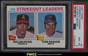 1977 Topps Nolan Ryan & Tom Seaver STRIKEOUT LDRS #6 PSA 8 NM-MT