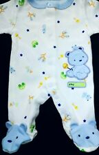 Sweet! Child of mine Preemie boy White/Blue with Bear Footed sleep N Play outfit