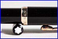 1960 Montblanc 376 PIX Druck Bleistift Schwarz & Gold 1.18 mm für 342 Füller