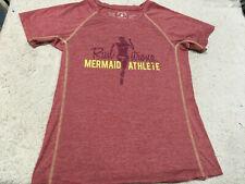 Run Strong Mermaid Athlete by Greenlight Apparel Maroon Tshirt - Womens Sz S