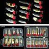 10/20 Pcs Mixed Fishing Lures Spinners Plugs Fish Bait Pike Trout Salmon Box Set