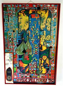 Hundertwasser Olympi.Spiele 1972 ,1.Auflage  von 35000 Stück nach Originalgrafik