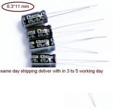 470uF 10V 105 Electrolytic Capacitor  15 pcs