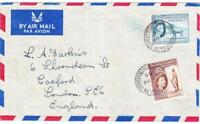 Somaliland Protectorate SG#141,#144-HARGEISA TN.20/AU/59-AIR MAIL to
