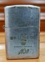 "Vintage WORKING BARLOW Cigarette Lighter . ADVERTISING "" WM LE MAR INC "" 1156.30"