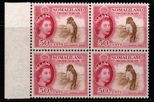 SOMALILAND SG143 1953 50c DEFINTIVE MNH BLOCK OF 4