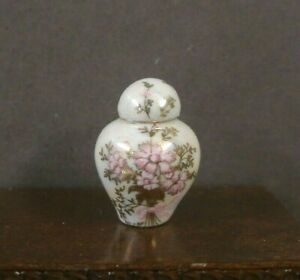 CHINA  PORCELAIN  GINGER  JAR ~Dollhouse~ England ~1:12 scale ~Room Box ~ Marked