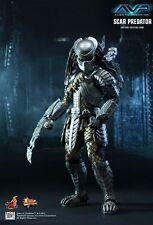"Hot Toys 1/6 AVP Alien VS Predator Mms190 Scar Predator 14"" Action Figure"