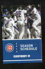 Chicago Cubs--2019 Pocket Schedule--Budwesier