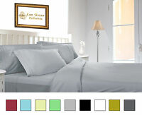 1800 Series 4 Pieces Egyptian Comfort Deep Pocket Bed Sheet Set Colors All Size