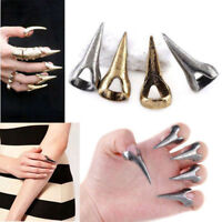 10PCS Retro Punk Rock Gothic Talon Nail Finger Claw ring Spike Rings Cosplay