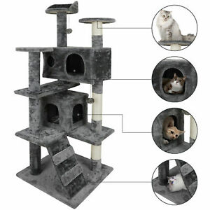 "53"" Cat Tree Activity Tower Pet Kitty Furniture with Scratching Posts Ladders"