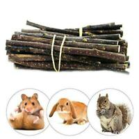 50g Apple Wood Chew Sticks Twigs for Small Pets Rabbits Hamster Guinea-Pig New