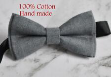 Boy Teenage 100% Cotton Mottled Gray Grey Bow Tie Bowtie Wedding 7-14 Years Old