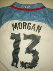 ORIGINAL USA WORLD CUP USWNT NIKE FOOTBALL SHIRT SOCCER JERSEY 13 ALEX MORGAN L
