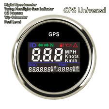 Moto 52mm Digital GPS Speedometer Odometer MPH Km/h Adjustable GPS Speed Gauge