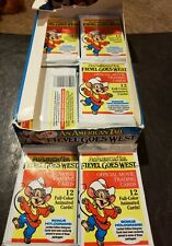 2 packs An American tale fievel goes west trading cards pack