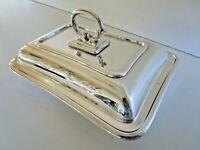 Quality Silver Plated Entree Dish, Brook & Son, Edinburgh