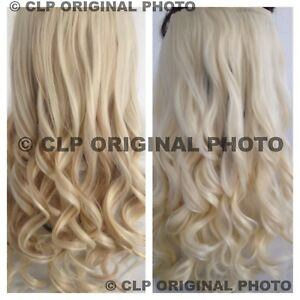 """Clip In Hair Extensions 22"""" Synthetic 1pc Curly Long Thick Like Real Hair UK"""