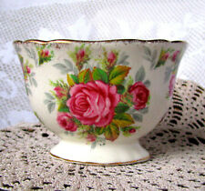 James Kent La Rosa Sugar Bowl, 4022 Vintage Pink Rose Chintz Sugar Bowl c1930s
